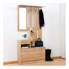 Coat Rack Storage Unit Custom Cherry Tree Furniture Oak Colour Hall Tree Coat Stand Shoe Storage