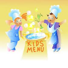 Kids Menu Card Design Child Cartoon Stock Vector