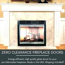 glass door fireplace insert replacement glass door