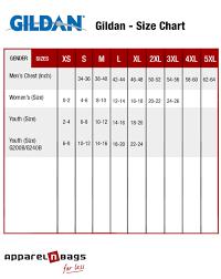 Gildan Tee Shirt Size Chart Blank T Shirts Size Charts