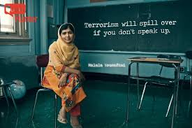 quotes on terrorism quotes hunter quotes sayings poems quotes on terrorism malala yousafzai ldquo