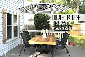 painted metal patio furniture. Outdated Patio Set Rustic Makeover Painted Metal Furniture