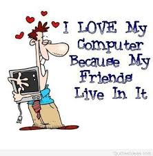 funny love my computer saying cartoon