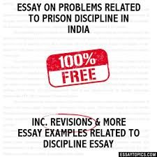 on problems related to prison discipline in essay on problems related to prison discipline in