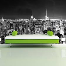 custom photo wallpaper mural night view new york city black and white building wall paper simple