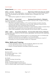 Resume sample accounting 2nd page