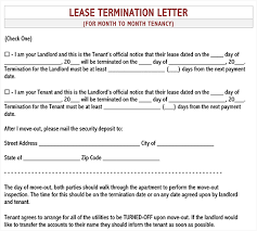 free lease termination letter for