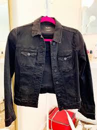 zara women black denim jacket trendy