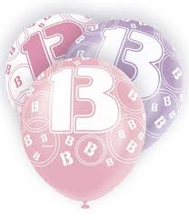 Image result for happy 13th birthday pink