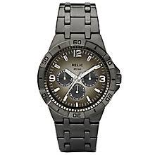 relic watches h samuel relic men s grey dial gunmetal ion plated bracelet watch product number 4608674
