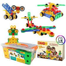 eti toys stem learning original 101 piece educational construction engineering building blocks set for 3