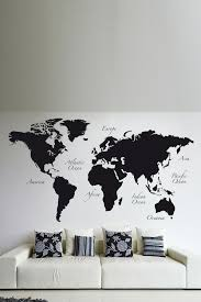 World Map interactive map - WALL DECAL by TheLovelyWall on Etsy ...