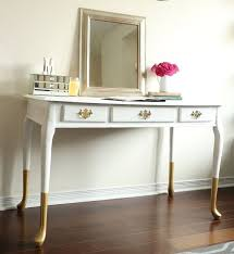 office furniture ideas. gold dipped queen anne desk vanity console table chic home office furniture ideas e