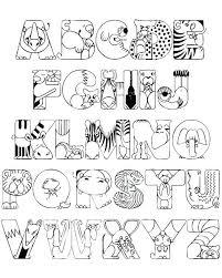 Alphabet Coloring Pages A Z Also Excellent Idea Alphabet Coloring