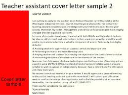 Cover Letter Template For Teaching Assistant Jobs Covering Job ...