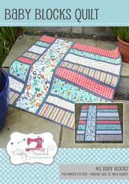 Baby Block Quilt Patterns Impressive Baby Blocks Patchwork Quilt Pattern Paper Pattern The Crafty
