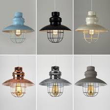 vintage industrial style ceiling pendant light shades