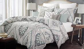 nicole miller bedding 3 piece full in grey paisley pattern for bedroom decoration ideas