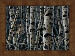 large inconuous black bear framed canvas art print wall art