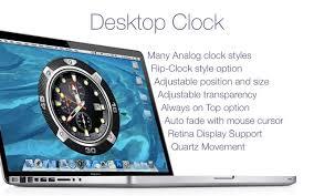 desktop clock live on the mac app
