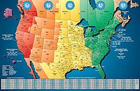 Time Map Amazon Com North America Satin Finish Full Color Time Zone