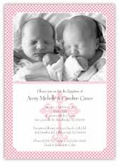 Twin Baptism Invitations Twins Baptism Invitations