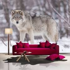 Image Is Loading Grey Wolf Wall Mural Animals Nature Photo Wallpaper
