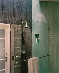 Small Shower Stalls Bathroom Contemporary with Glass Doors Glass Shower