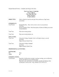 Resume Format Education First Cv Resumes Maker Guide
