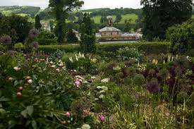 the cutting garden up above the le block at chatsworth derbyshire