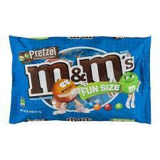 m m s m m fun size pretzel chocolate cans