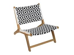 garden teak and synthetic easy chair