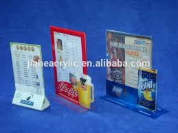 Restaurant Table Top Display Stands Tabletop Acrylic Menu Holder Display Stand Restaurant Plexiglass 66