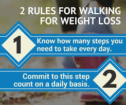 the trick to walking for weight loss is to understand two simple rules