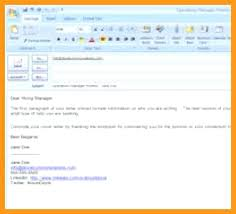 Elegant Sending A Cover Letter And Resume Via Email Sample Email For