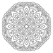 Symmetry Coloring Pages Symmetrical With Best Mandala Ideas On