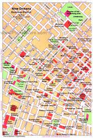 garden district new orleans walking tour map. Exellent District New Orleans  Business District Map Tourist Attractions In Garden Walking Tour S