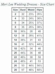 Wedding Dress Size Chart Morilee Wedding Dress Size Chart For My Designer Mori