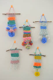 mini woven wall hangings weaving projects for kids