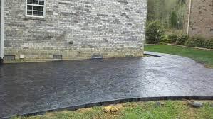 long concrete driveway
