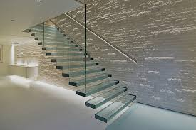 hot selling indoor frameless glass railing rubber solid wood steps build floating  staircase designs