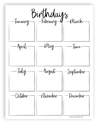 Free Printable Keep Track Of All Your Friends And Family