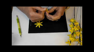 Paper Flower Branches Paper Flower Forsythia Branches Youtube