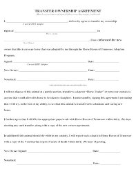 Transfer Of Business Ownership Template Contract Cat Agreement