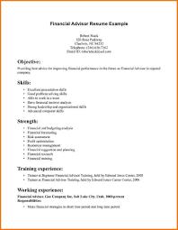 Financial Advisor Resume Objective Financial Advisor Resume Example Examples Of Resumes 8