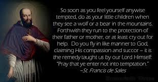 St Francis Quotes Beauteous Daily Virtue Quote St Francis De Sales Eucharistic Virtue