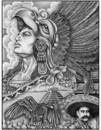 aztec warrior and princess black and white. Perfect White Chicano Art Gallery  Google Search With Aztec Warrior And Princess Black White