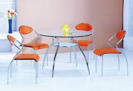 round glass dining table chrome legs. the reflective fun continues with calligaris planet small table tempered glass top, available at allmodern. piece is complete a round dining chrome legs m