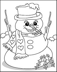 Kleurplaat Kleurplaat Sneeuwpop Cjpg