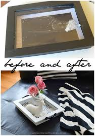 before and after diy tray from and old picture frame placeofmytaste